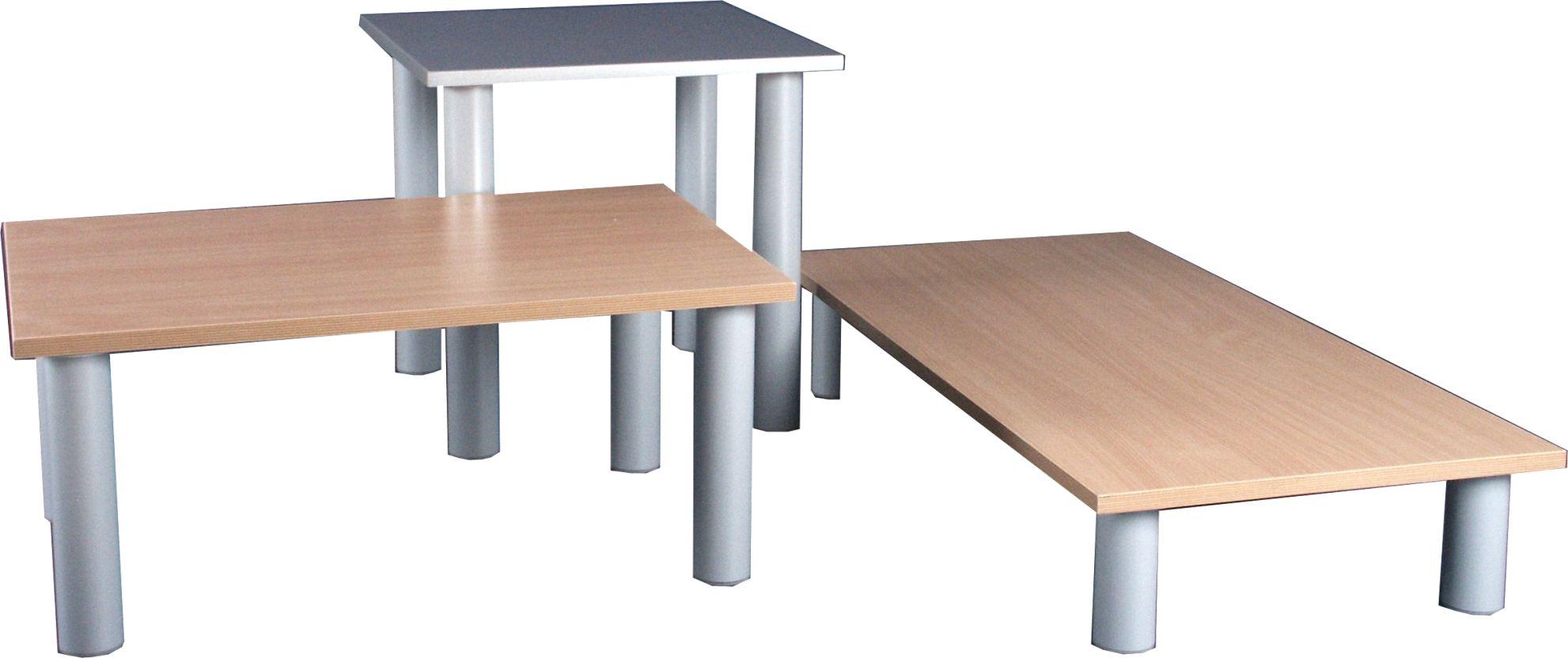 Pr sentationstisch alegra satz 3 st ck deko design for Spiegel 40x70